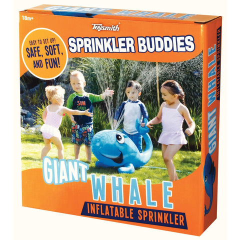 Sprinkler Buddies Giant Whale Inflatable Lawn Water Toy