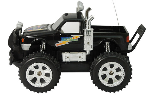 Black Land & Sea Amphibious Remote Control RC Truck w/Lights