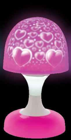 Dreamscape Lamp - Pink Hearts - Battery Operated Light