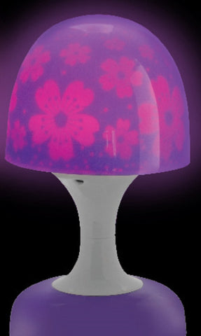 Dreamscape Lamp - Purple Flowers - Battery Operated Light