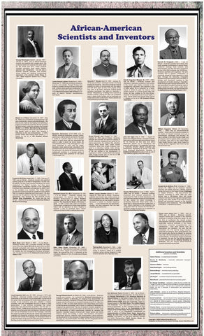 African American Scientists & Inventors Poster-Laminated