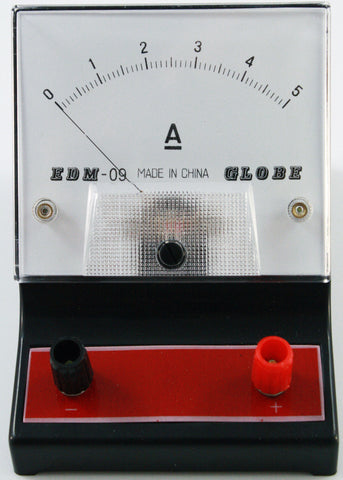 0-5 Ampere (A) DC Ammeter, Analog Display - Online Science Mall