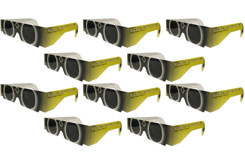 The Eclipser Safe Solar Eclipse Glasses CE Certified - 10 Pack