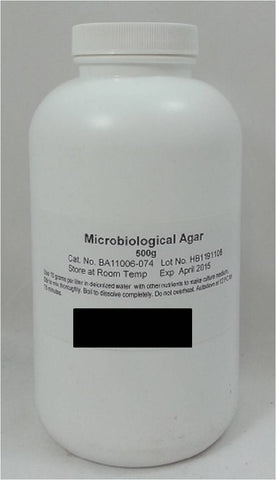 Microbiological Agar Powder, 500g Makes 33 L of Finished Solution