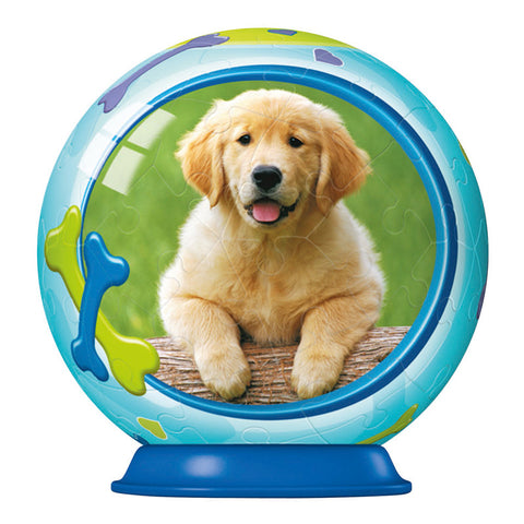 3D Animal Baby Puzzle Ball: PUPPY: 54 pc by Ravensburger