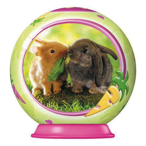 3D Animal Baby Puzzle Ball: BUNNIES: 54 pc by Ravensburger