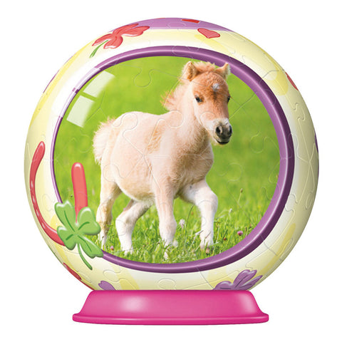 3D Animal Baby Horse Puzzle Ball: FOAL: 54 pc by Ravensburger