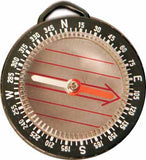 Liquid Filled Clear Back Magnetic Compass 48mm with Lanyard - Classroom Education & Plotting