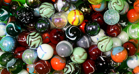 125 Count Bulk Assorted Premium 1 Inch Shooter Glass Mega Marbles - Online Science Mall