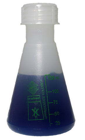 Erlenmeyer Flask : 125mL Polypropylene Plastic