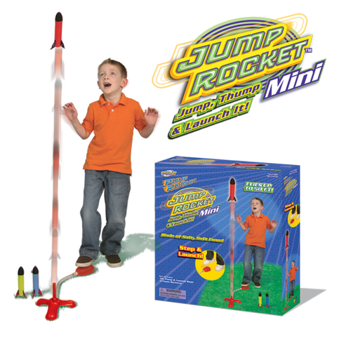 Jump Rocket Mini - Launcher with 3 Flying Foam Rockets