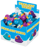 Polka Dot Rubber Duckies - Set of 2 Ducks - Purple and Blue