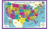 USA Geography & Cultural Activity Placemat by Tot Talk