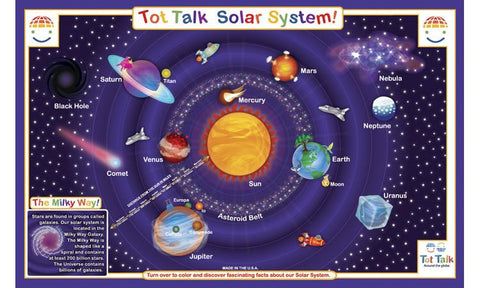 Solar System Explorer - Astronomy Activity Placemat by Tot Talk