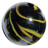"Large 1-3/8 Inch Glass ""Poison Dart Frog"" Mega Marble (35mm Boulder) with Stand"