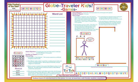 Kids Games Activity Placemat by Tot Talk