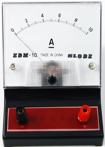 0-10 ampere (A) DC Ammeter, Analog Display - Online Science Mall