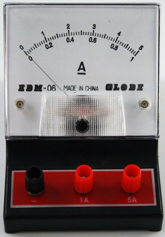 0-1A to 0-5 ampere (A) DC Ammeter, Analog Display - Online Science Mall
