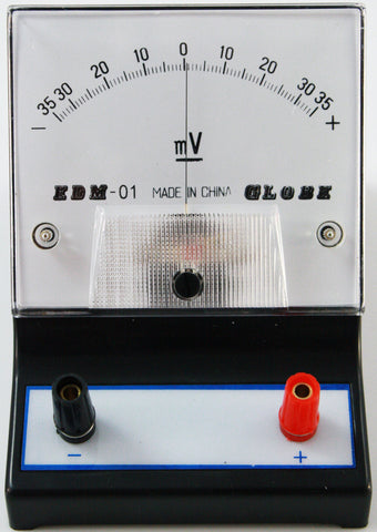 '-35-0-35 millivolt (mV) Galvanometer, Analog Display - Online Science Mall