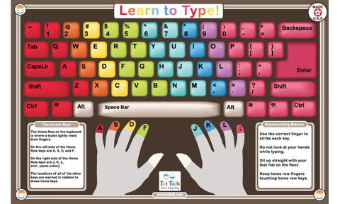 Learn To Type - Activity Placemat by Tot Talk