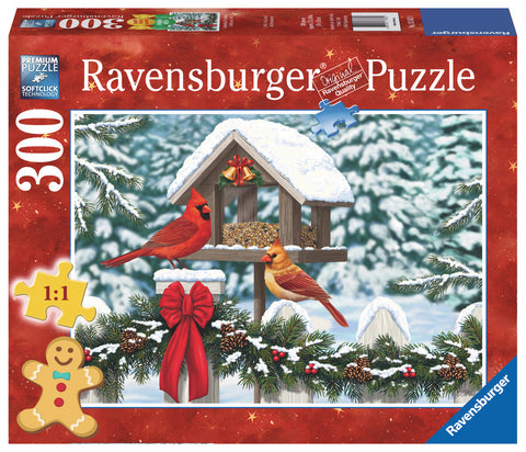 Cardinals at Christmas - 300 Piece Holiday Jigsaw Puzzle, by Ravensburger