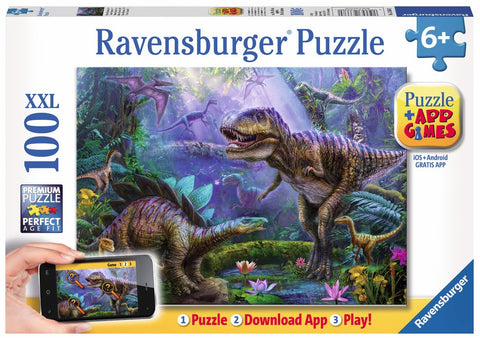 The Great T-Rex 100 Piece Premium Dinosaur Puzzle w/Free Download, by Ravensburger