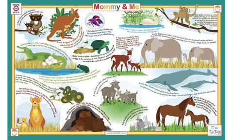 Mommy & Me Activity Placemat by Tot Talk