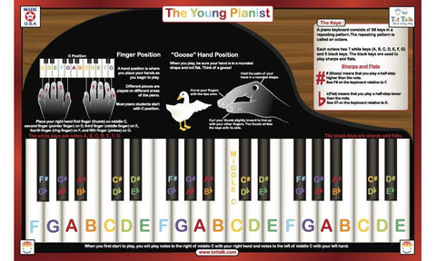 Young Pianist Activity Placemat for Piano by Tot Talk