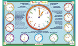 Telling Time Activity Placemat by Tot Talk