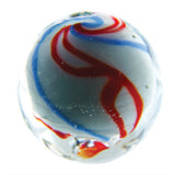 25mm Handmade Art Glass Celebration Marbles Set of 4 w/stands