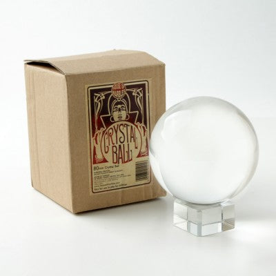 3 Inch Clear Crystal Ball Orb with Glass Stand