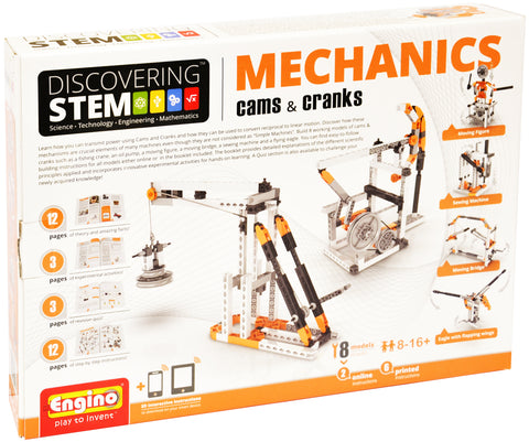 Engino Discovering STEM Mechanics Cams & Cranks Building Kit