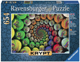 Krypt Colorful Spiral 654 Piece Puzzle, by Ravensburger