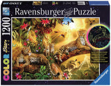 Golden Leopards Color Starline 1200 Piece Puzzle w/Hidden Glow-in-the-Dark Image, by Ravensburger