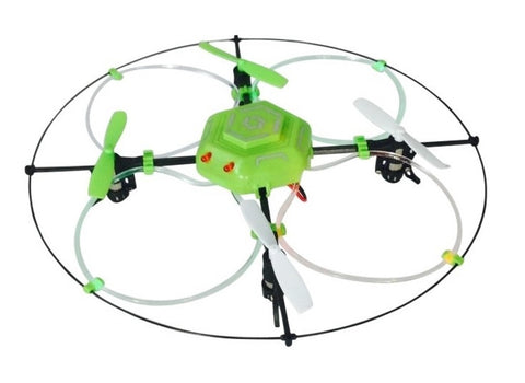 Sky Flyer NX Quadrocopter Remote Control Drone w/Fiber Optic Lights