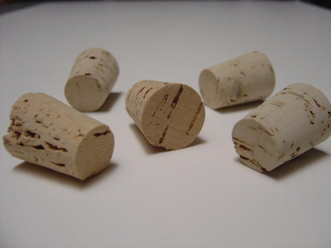 Size 1 Tapered Cork Stoppers Pack of 25