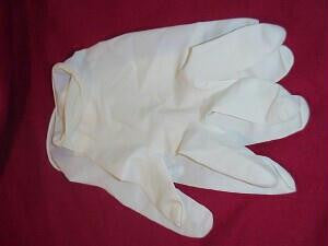 Latex  Powder Free Gloves: Medium Sized - Box of 100 Gloves