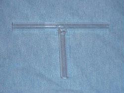 Glass Connecting Tube, T Shape Connector, 1/4 inch