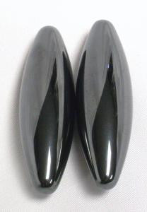 Hematite Buzzing Buzz Magnets Pair 45mm