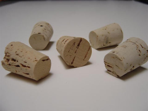Tapered Cork Stoppers Size 7: Pack of 10