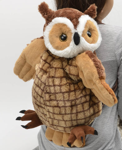 "15"" Kiwi Brown Owl Plush Back Pack by Unipak Designs"