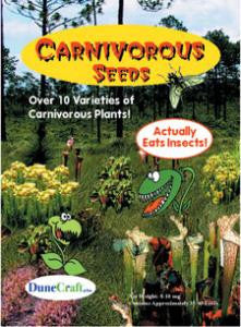 Carnivorous Seeds - Seeds of Over Ten Plant Varieties That Actually Eat Insects