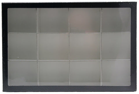 Deluxe Exhibit Case 8 x 12 Inches with 12 Compartments