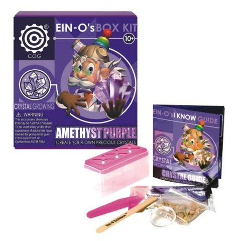 Ein-O's Amethyst Purple Crystal Growing Box Kit by Tedco