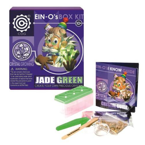 Ein-O's Jade Green Crystal Growing Box Kit by Tedco