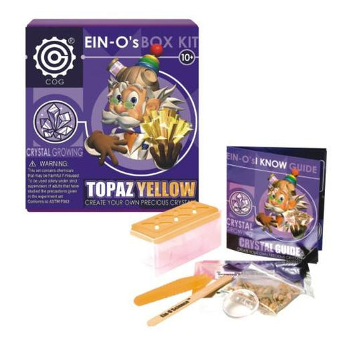 Ein-O's Yellow Topaz Crystal Growing Box Kit by Tedco