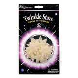 Set of 40 Glow in the Dark Glittery Twinkle Stars