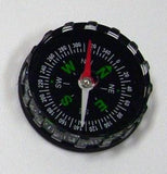 Liquid Filled Black Plastic Magnetic Compass 40mm Diameter