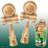 Real Bamboo KENDAMA Wooden Ball Catch Game - Natural Wood Colors