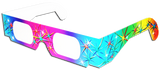 3D Fireworks Glasses w  Rainbow Frames - Pattern Diffraction Lenses- Pack of 10